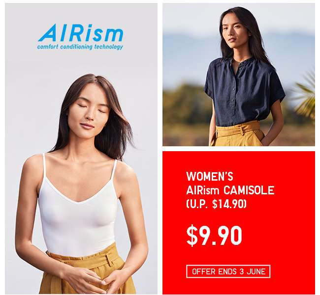 Now on Limited Offer! Shop Women's AIRism Camisole.