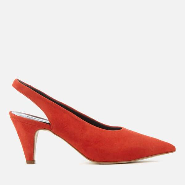 Rebecca Minkoff Women's Simona Suede Sling Back Court Shoes - Red