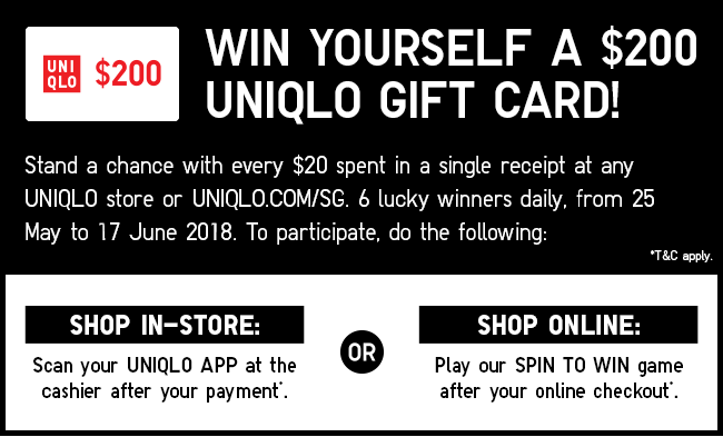 Stand to win yourself a $200 Gift Card!
