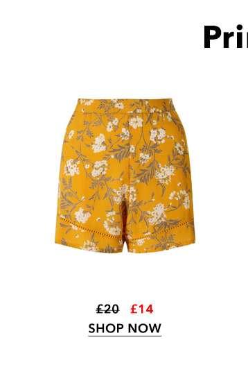 Yellow Floral Flippy Shorts