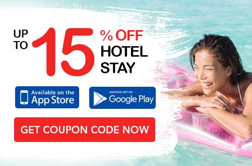 15% OFF hotel stay