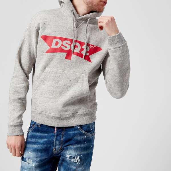 Dsquared2 Men's Dsq2 Logo Dan Fit Hoody - Grey Melange