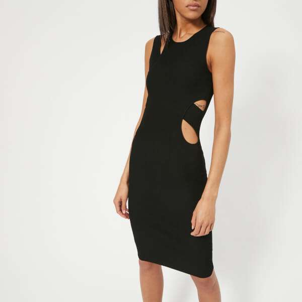 Helmut Lang Women's Layered Slash Tank Dress - Black