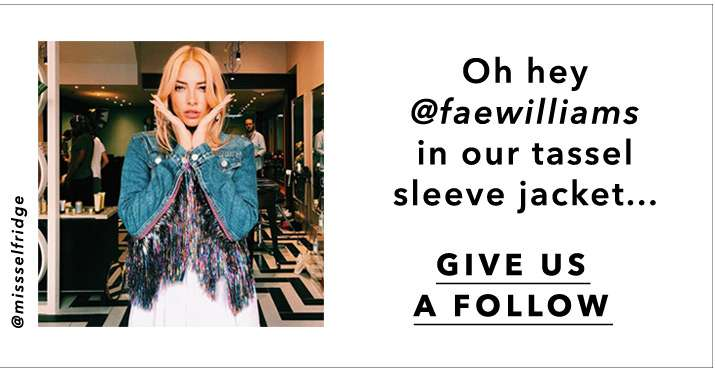 2Oh Hey @faewilliams In Our Tassel Sleeve Jacket... - Give Us A Follow