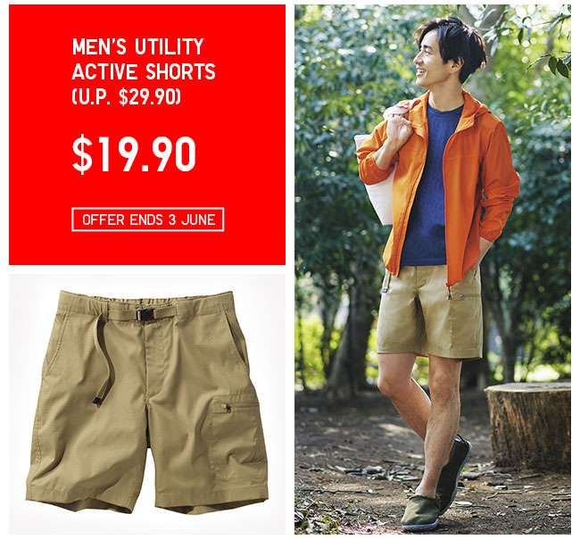 Shop Men's Utility Active Shorts