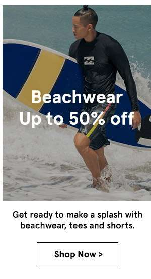 Beachwear up to 50% off. Shop Now.