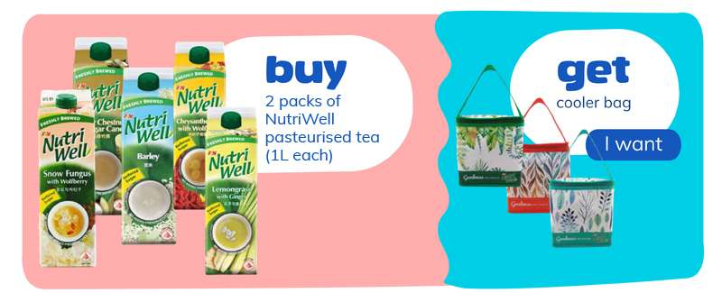 buy 2x1L nutriwell and get cooler bag