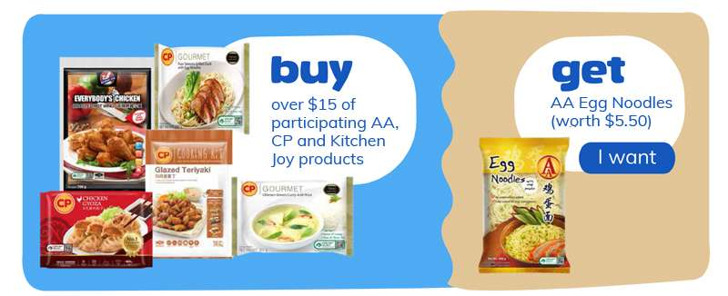 buy over $30 participating products and get AA egg noodles