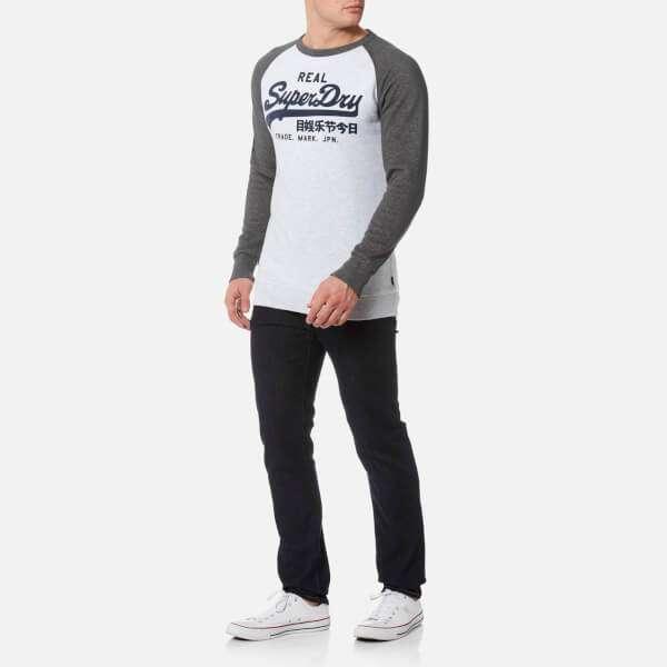 Superdry Men's Vintage Logo Raglan Crew Sweatshirt - Ice Marl: Image 21