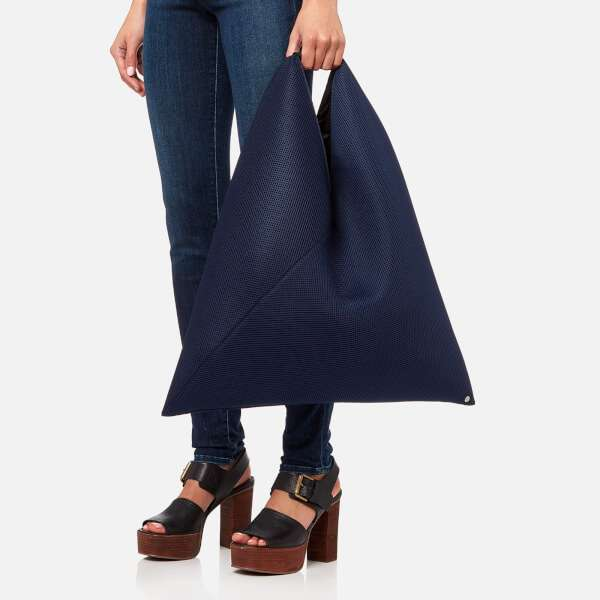 MM6 Maison Margiela Women's Net Fabric Japanese Bag - Navy Blue