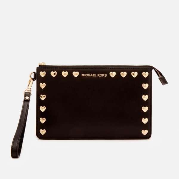 MICHAEL MICHAEL KORS Women's Medium Gusset Wristlet Bag - Black