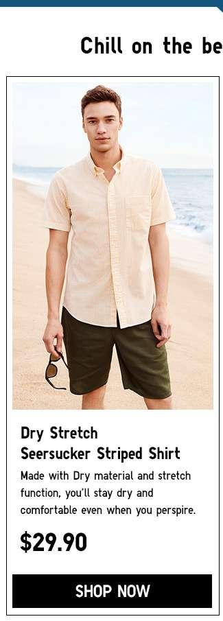 Shop Men's Dry Strtech Seersucker Striped Shirt