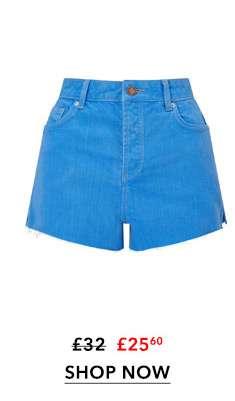 MOM Blue Denim Shorts
