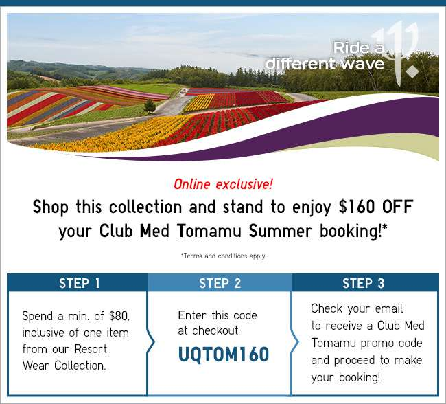 Stand to enjoy $160 off your next Club Med Tomamu Summer Booking!