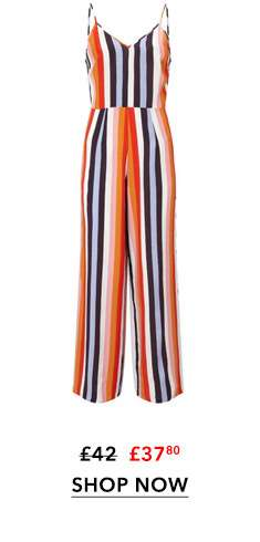 Rainbow Striped Wide Leg Jumpsuit