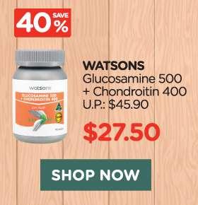 Watsons Glucosamine 500 + Chondroitin 400