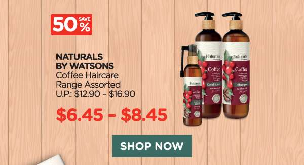 Naturals by Watsons Coffee Haircare Range Assorted