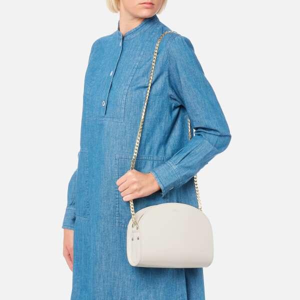 A.P.C. Women's Luna Bag with Gold Chain - White