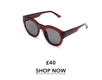 QUAY AUSTRALIA If Only Cherry Round Sunglasses