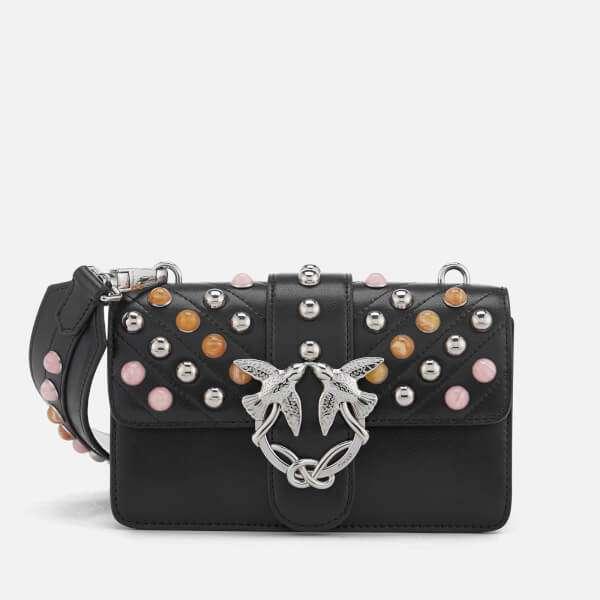 Pinko Women's Mini Love Stones Shoulder Bag - Black: Image 01