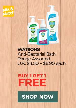 Watsons Anti-Bacterial Bath Range Assorted