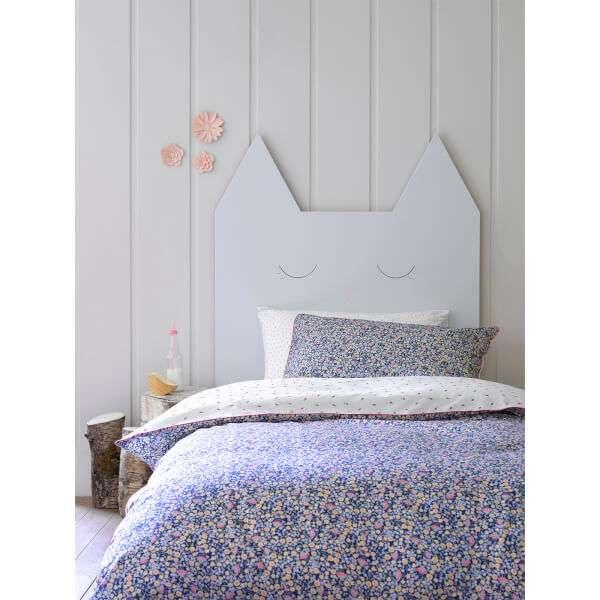Christy Junior Ladybird Floral Duvet Set - Indigo: Image 01