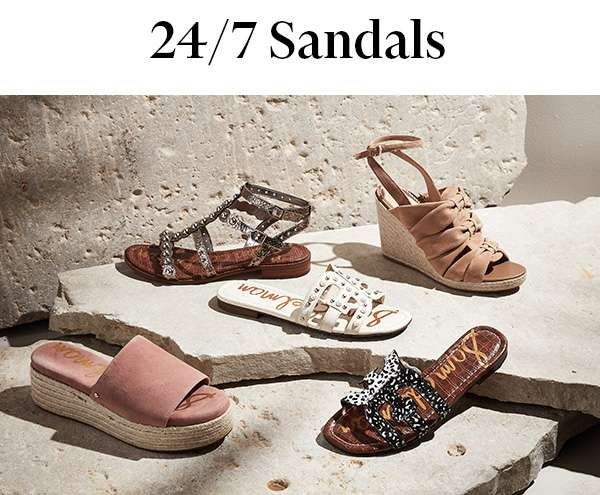 Coast through summer in the latest never-take-off pairs from Sam Edelman.