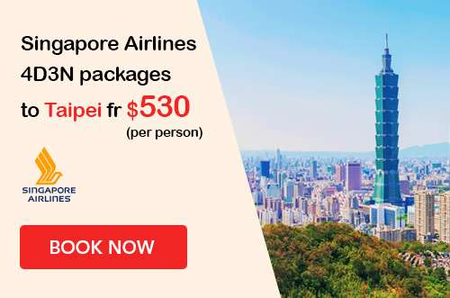 Singapore Airlines packages to Taipei Sale