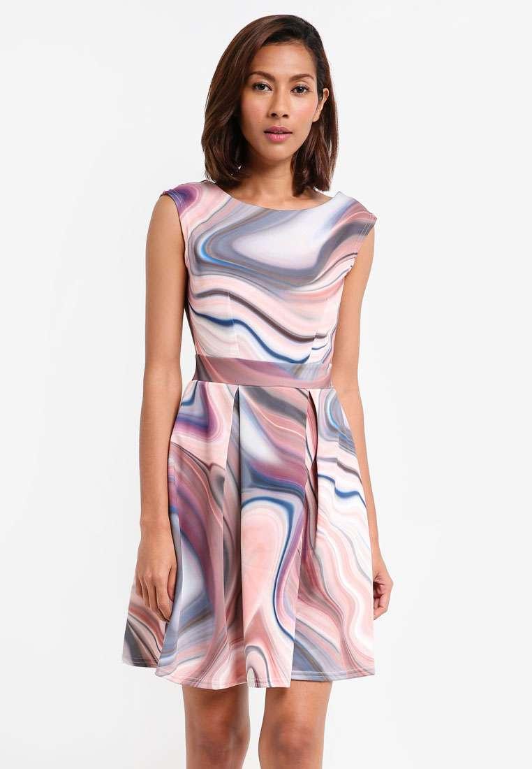 V-Back Pleated Dress
