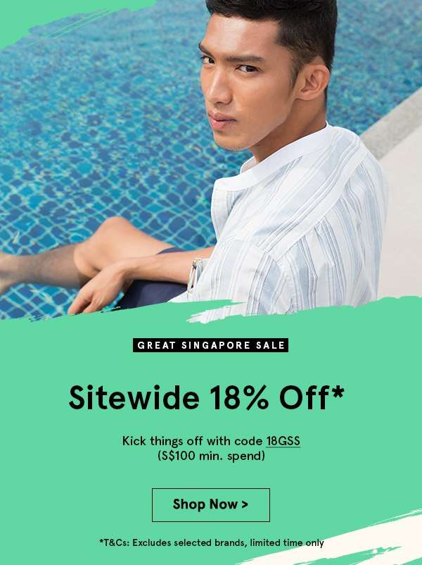 18% off sitewide. Min spend 100. Shop now.