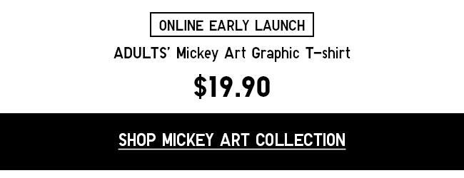 Shop Mickey Art Graphic T-shirt at $19.90