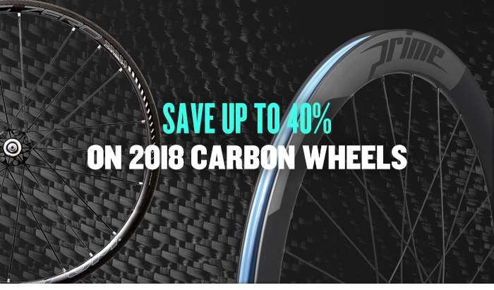 Save up to 40% on 2018 Carbon Wheels