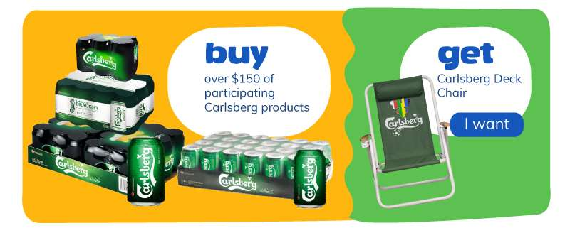 buy over $150 participating products and get deck chair