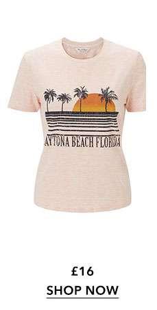 Front Print Daytona T-Shirt