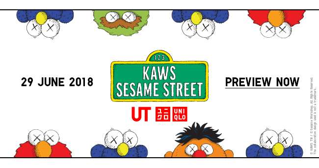 Preview KAWS x SESAME STREET Collection now! Launching on 29 June.