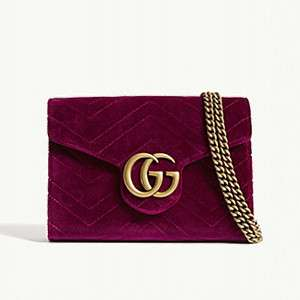 GUCCI                                Marmont GG velvet wallet-on-chain