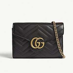 GUCCI                                Marmont GG leather wallet-on-chain