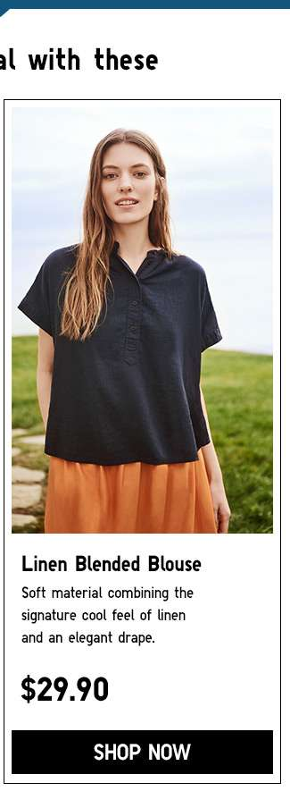 Shop Women's Linen Blended Blouse