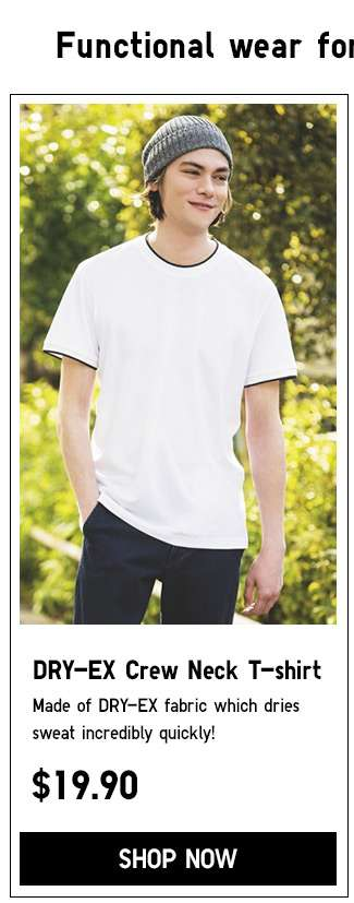 Shop Men's Dry EX Crew Neck T-shirt