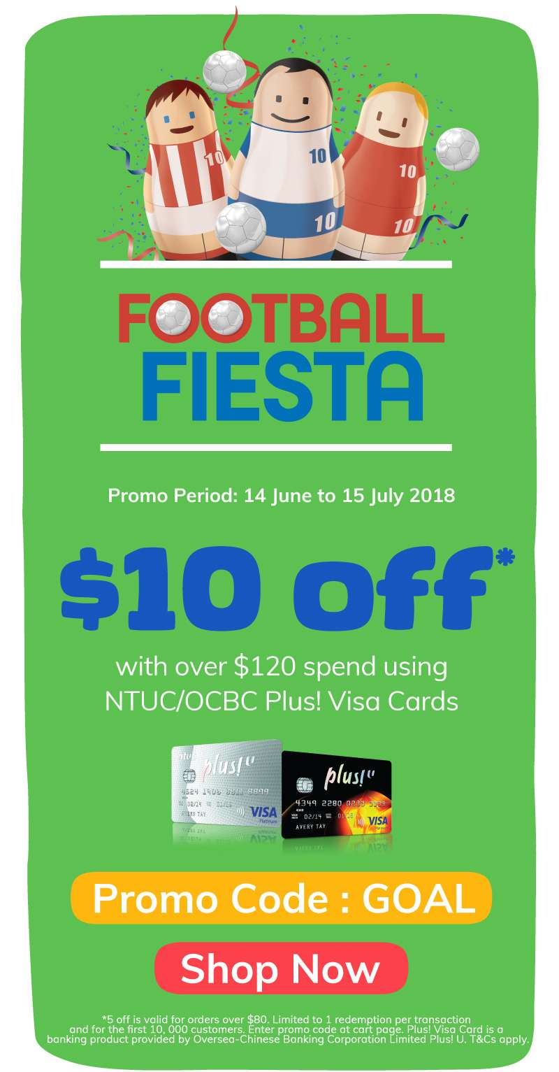 $10 off over $120 using NTUC/ OCBC Plus! Visa Cards
