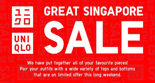 UNIQLO Great Singapore Sale! Enjoy savings on over 150 items. Shop items as low as $4.90!