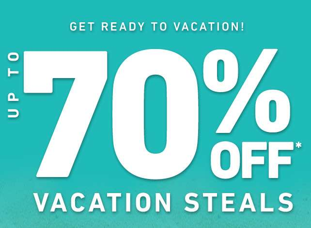 Up to 70% Off Vacation Sales