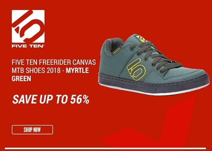 Five TenFreerider Canvas MTB Shoes 2018 -  Myrtle Green