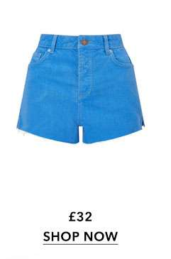 MOM Blue Denim Shorts