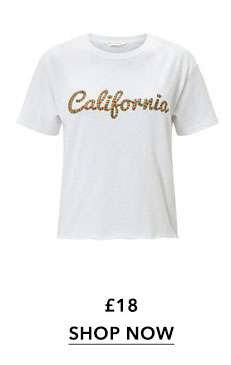 California Embroidered T-Shirt