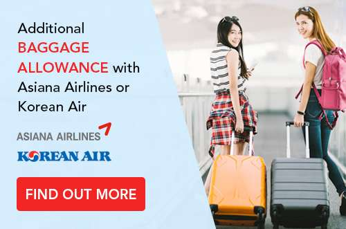 Additional baggage allowance with Asiana Airlines or Korean Air