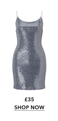 Sequin Slip Midi Dress