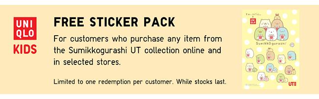 Free Sumikkogurashi Sticker Pack with purchase! T&C apply.