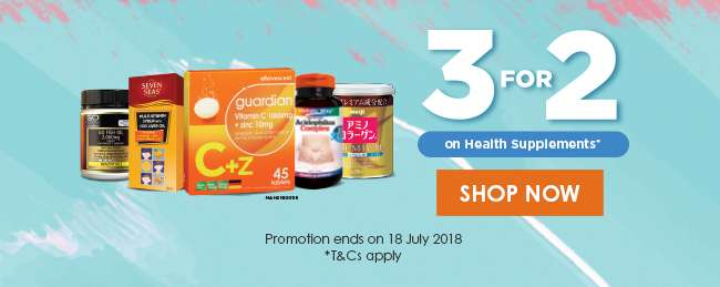 3 For 2 on Health & Supplements!