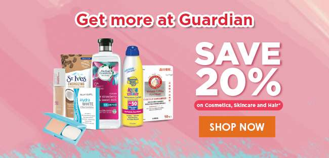 Save 20% on Cosmetics, Skincare and Hair!